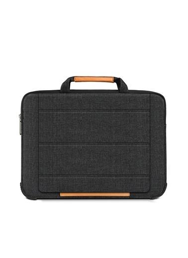 "Mcstorey Wiwu MacBook Laptop Çanta Retina Pro Handbag Stand Koruma 15"" 15.6"" Su Geçirmez Siyah"